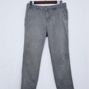 J. Crew Grey Sunwashed Slim Chino Pants